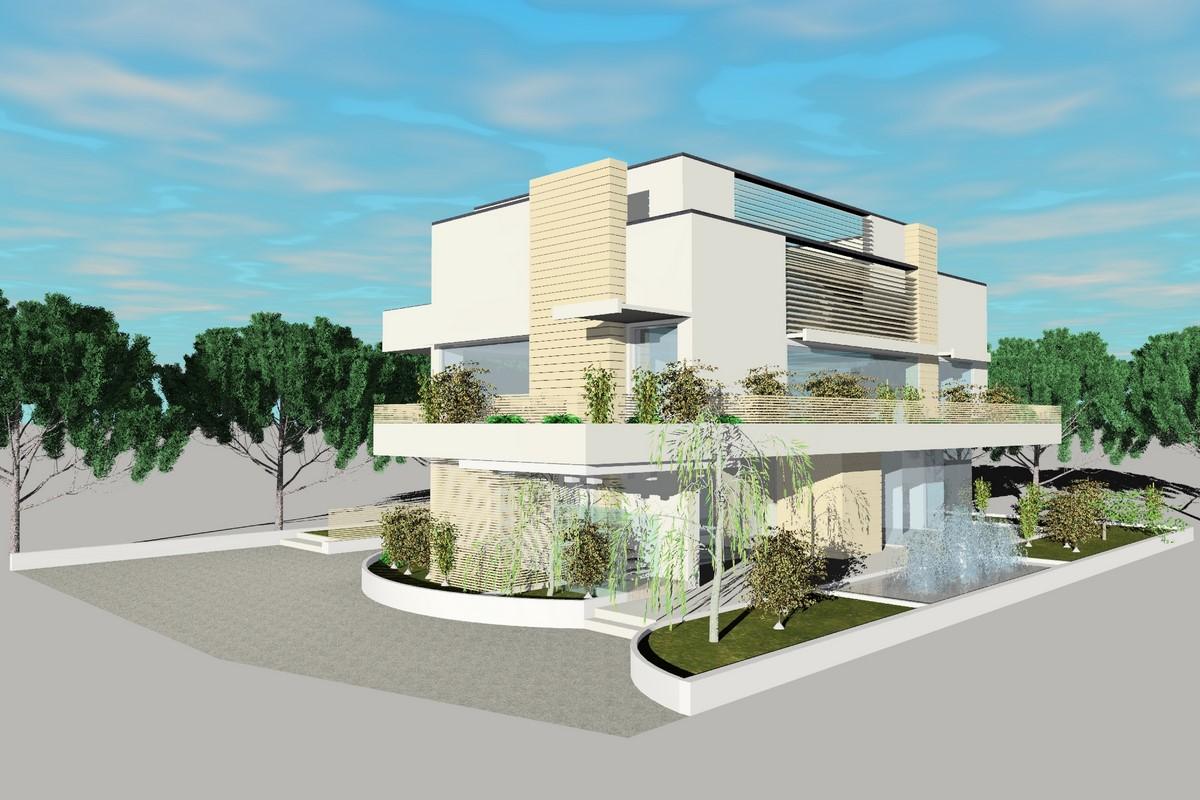 Villa Unifamiliare Design Studio Architettura Milano Marittima